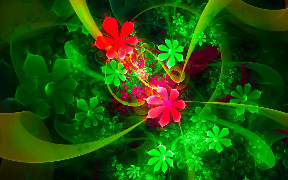 3d colorful digital flower 3d wallpapers desktop wallpapers 969x606