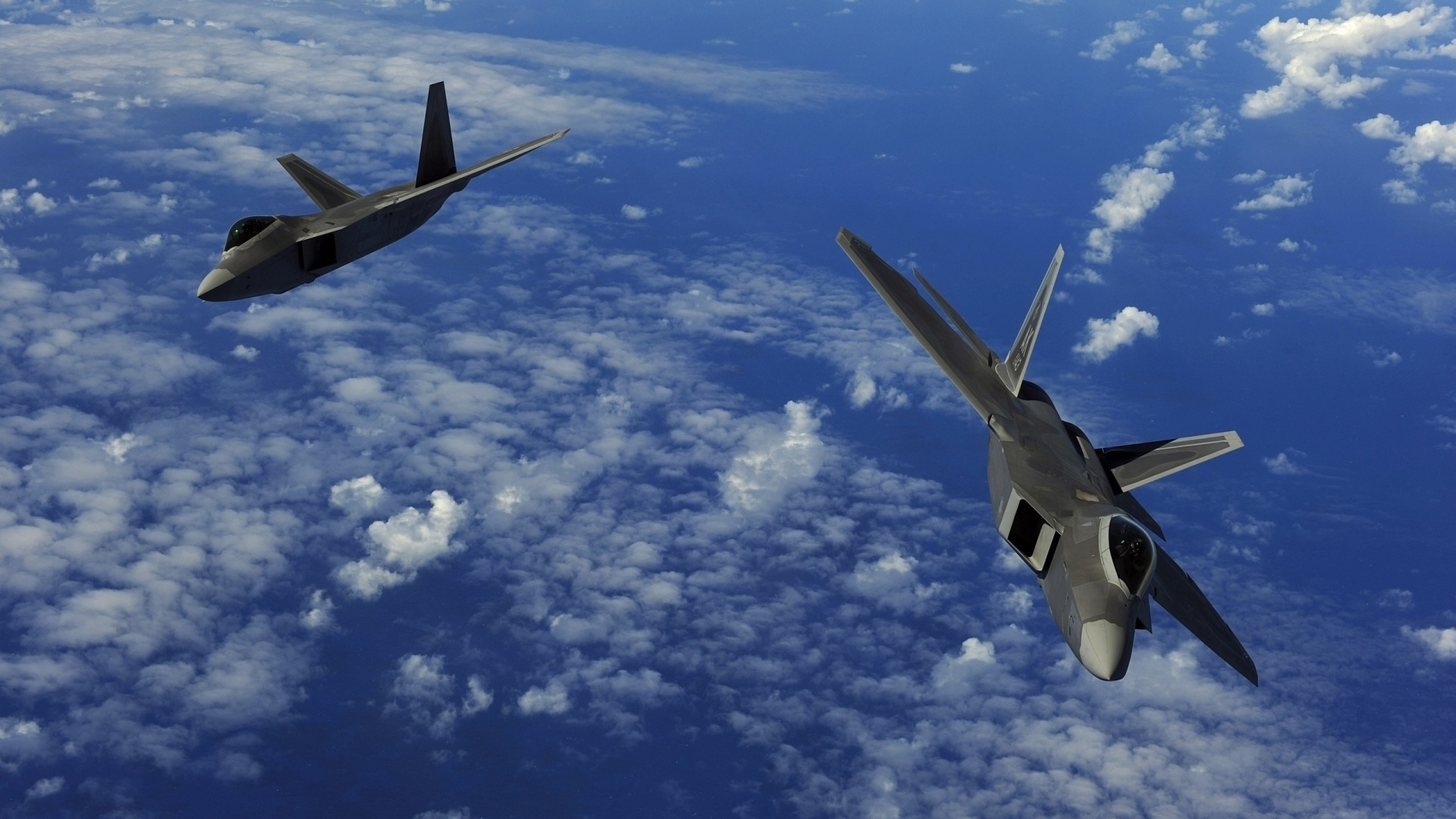 Two F 22 Raptor Aircraft Wallpapers   1920x1080   493944 1920x1080