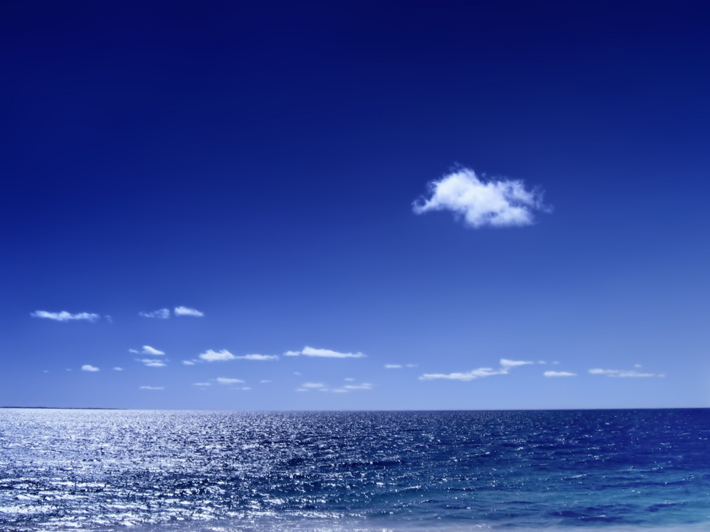 Blue Ocean Wallpaper 1024x768
