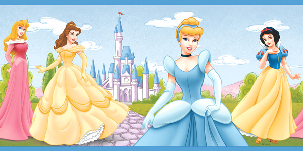 princess wallpaper Disney Princess Wallpaper Border 600x300
