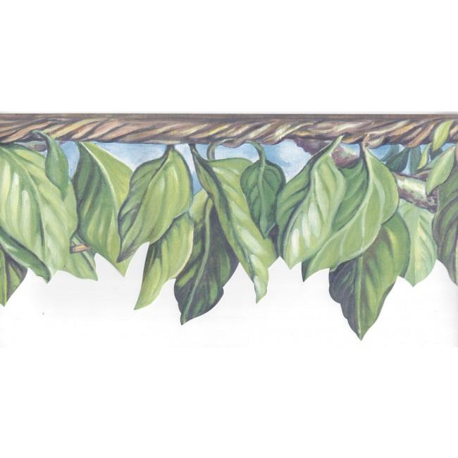 Laser Cut Jungle Leaves Wallpaper Border   All 4 Walls Wallpaper 650x650