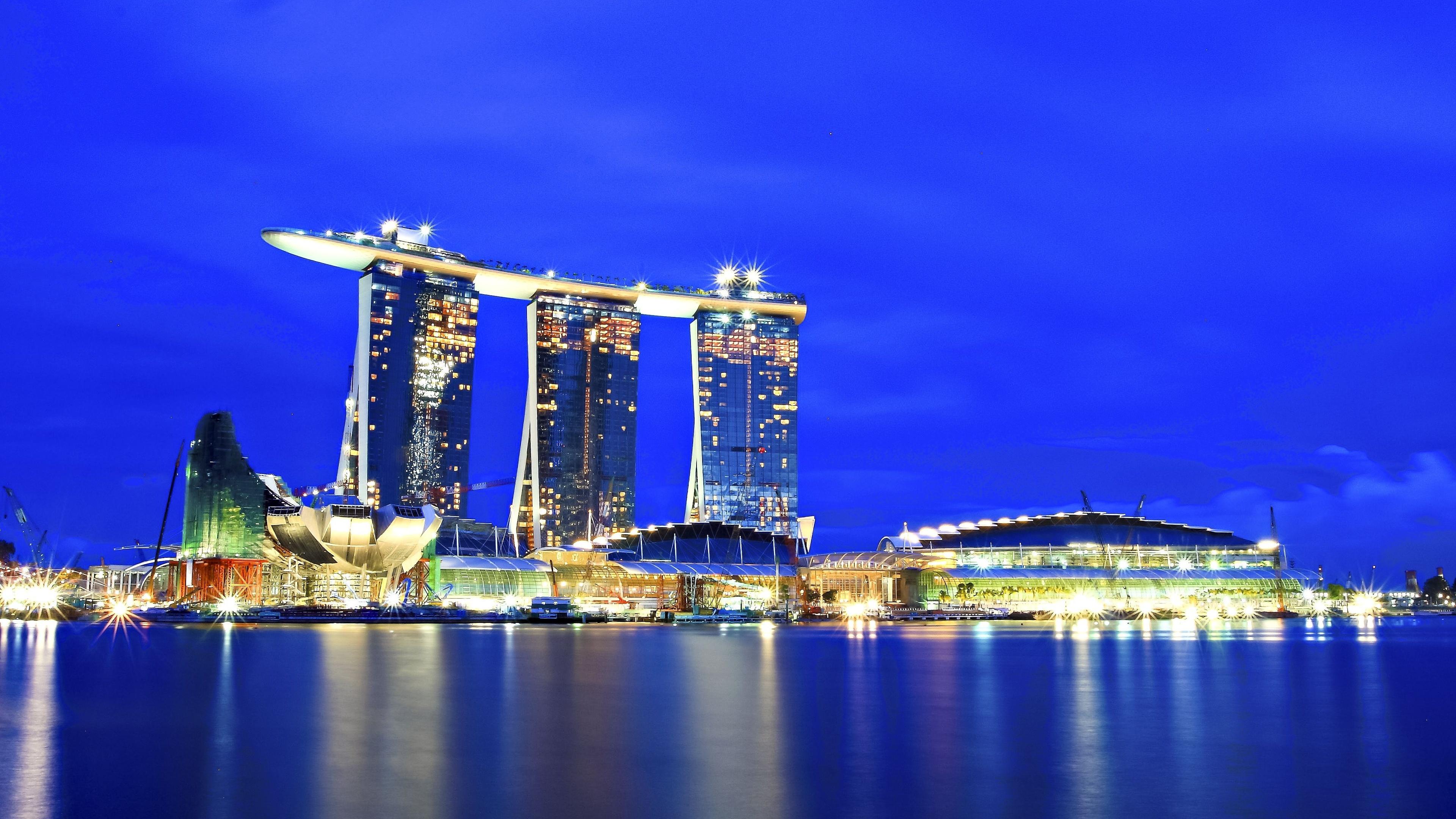 Singapore City 4K Wallpaper Wide Screen Wallpaper 1080p2K4K 3840x2160