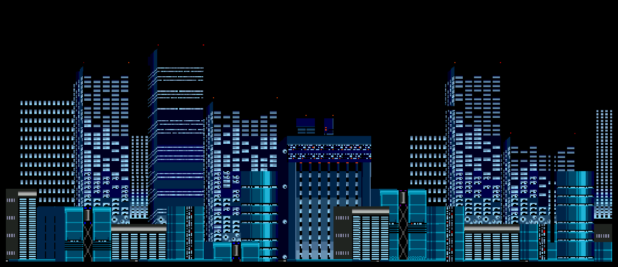 City 16 Bit Sonic 2 Chemical Plant Zone by Grinder1999 1262x546
