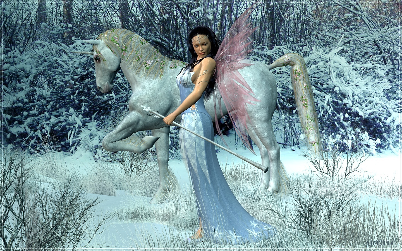 Unicorn and fairy desktop wallpaper wallpapersafari - Free fairy wallpaper and screensavers ...