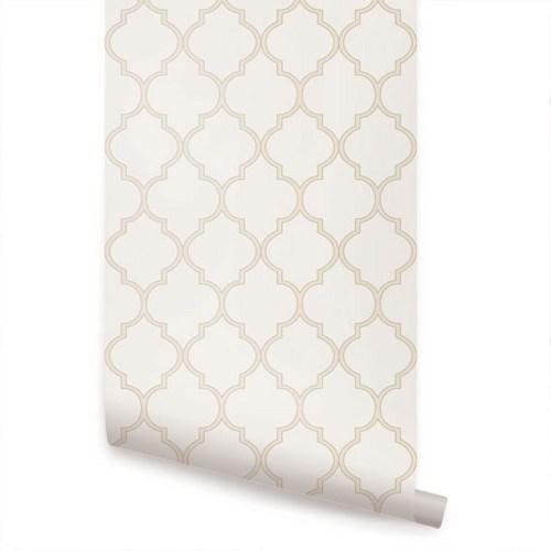 Grasscloth Wallpaper Peel And Stick: Grey Moroccan Wallpaper