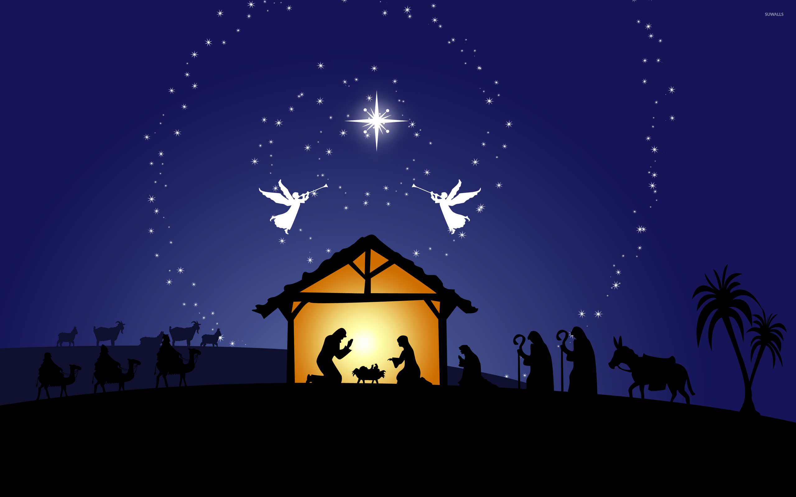 Pics Photos   Christmas Nativity Wallpapers 2560x1600
