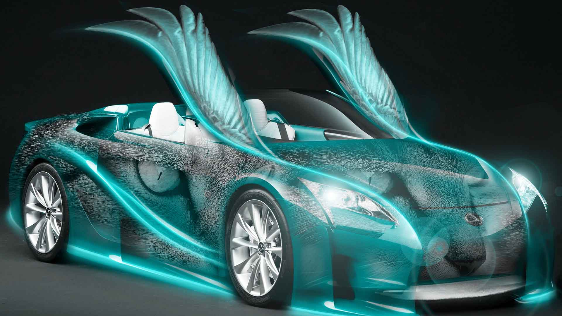Car With Wings   Cool Desktop Background 1920x1080
