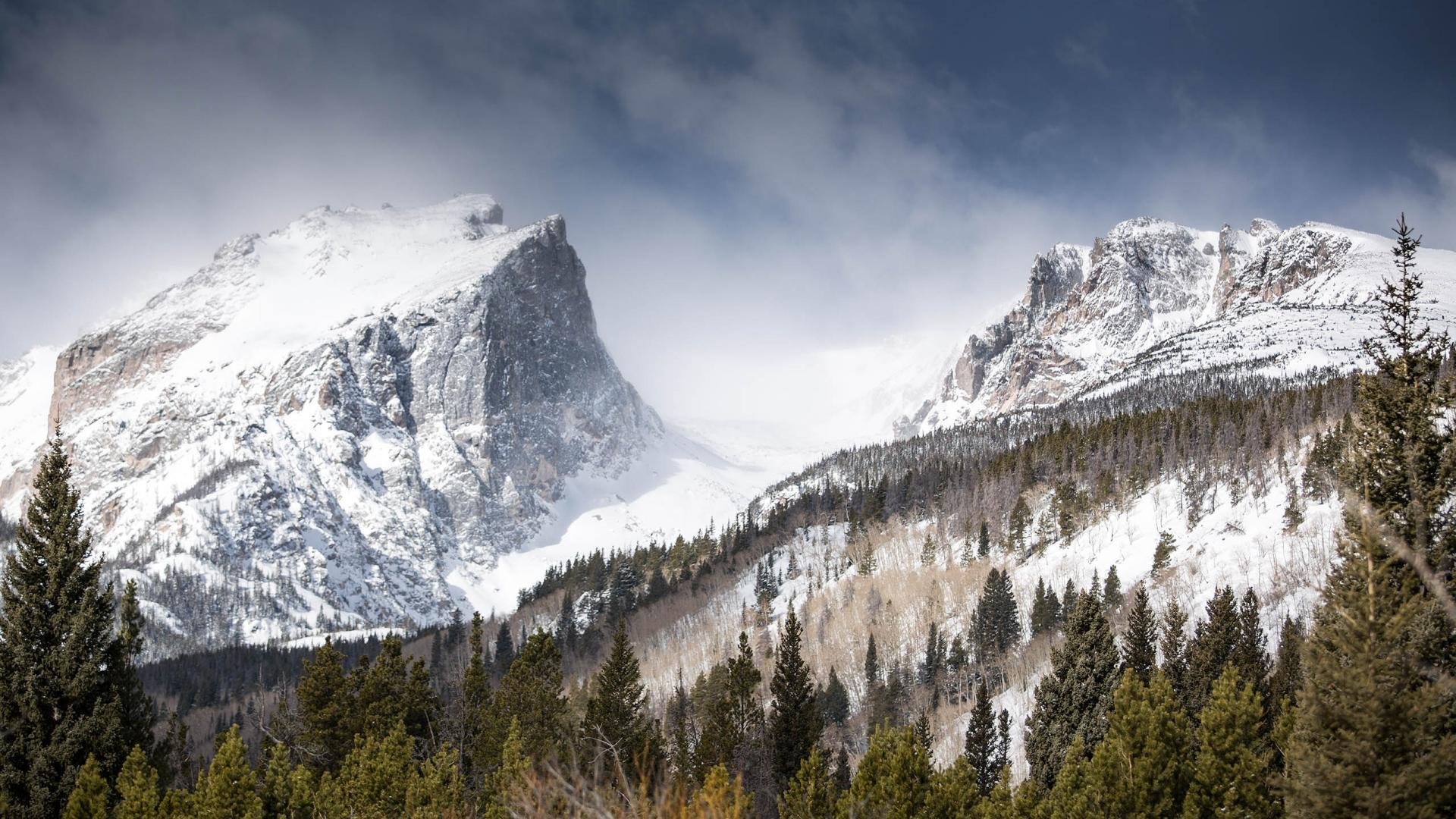 Snow Covered Rocky Mountains Cool Wallpapers 1920x1080