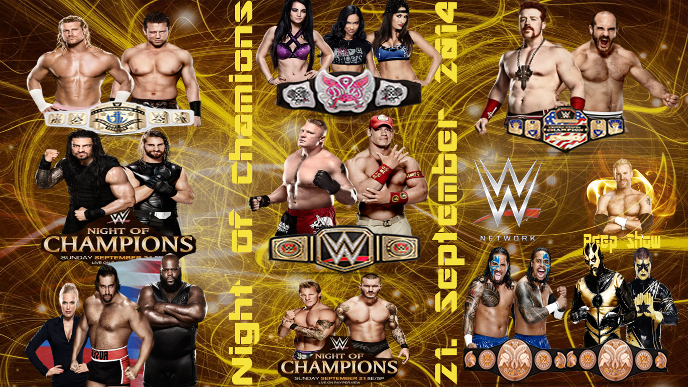 Wwe night of champions wallpaper wallpapersafari - Night of champions 2010 match card ...