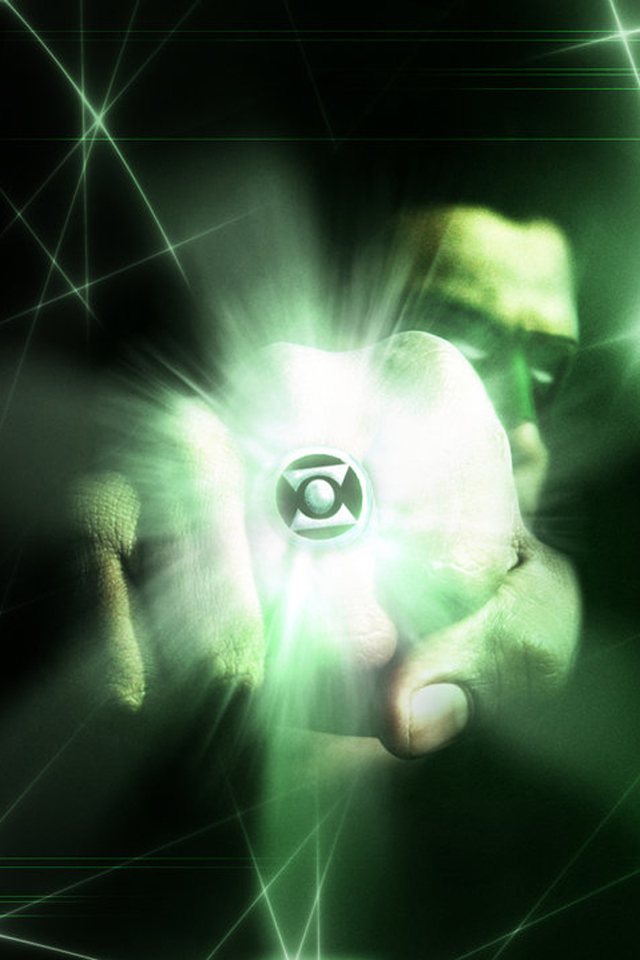 Green Lantern I4 drawns cartoons wallpaper for iPhone download 640x960