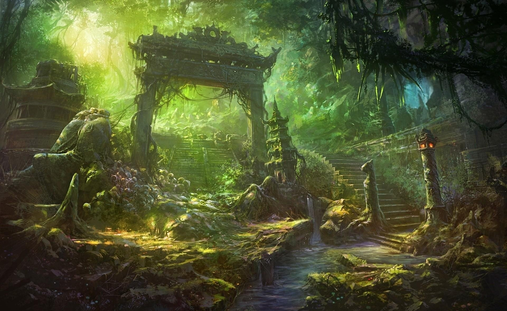Fantasy Forest Wallpaper HD  WallpaperSafari