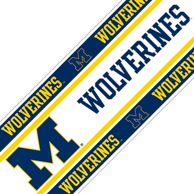 NCAA Michigan Wolverines Football Self Stick Wall Border contemporary 640x640
