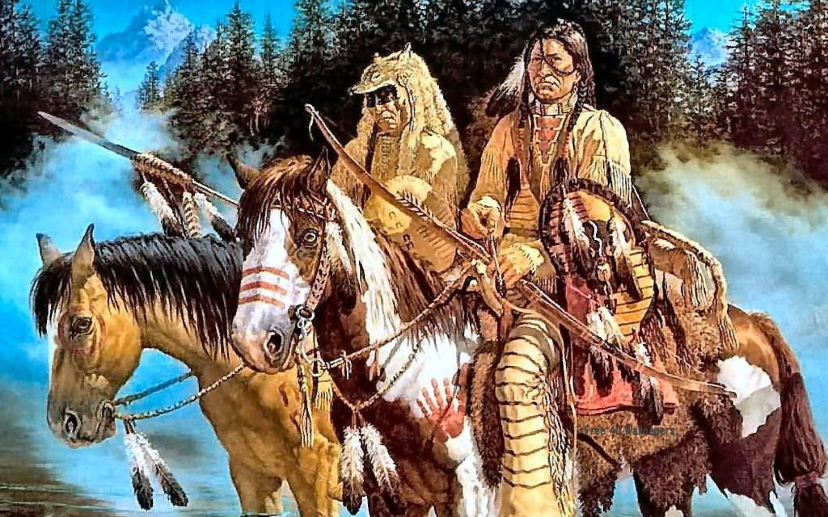 Indians Native American Indians Wallpaper Wallpapers Download 1680x1050