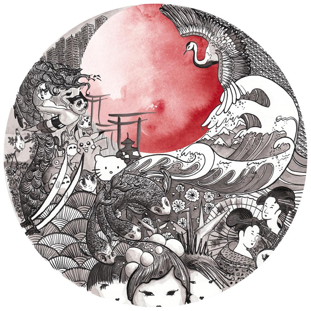Harajuku Gyoza Illustration Iphone id 136498   BUZZERG BUZZERG 990x990