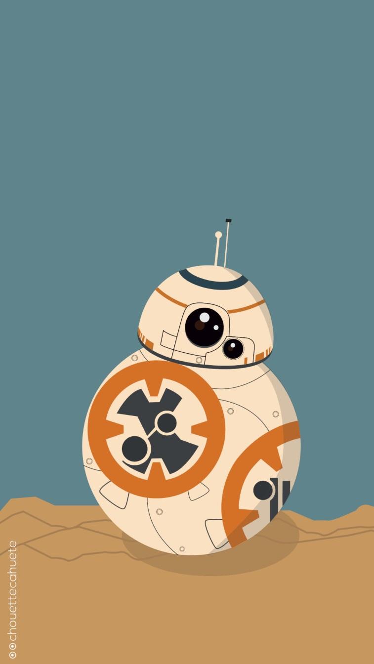 The Force Awakens  BB8 Rey iPhone 6 Wallpaper