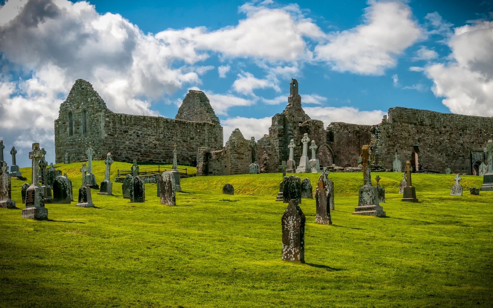 Clonmacnoise Monastery Wallpaper and Background Image 1680x1050 1680x1050