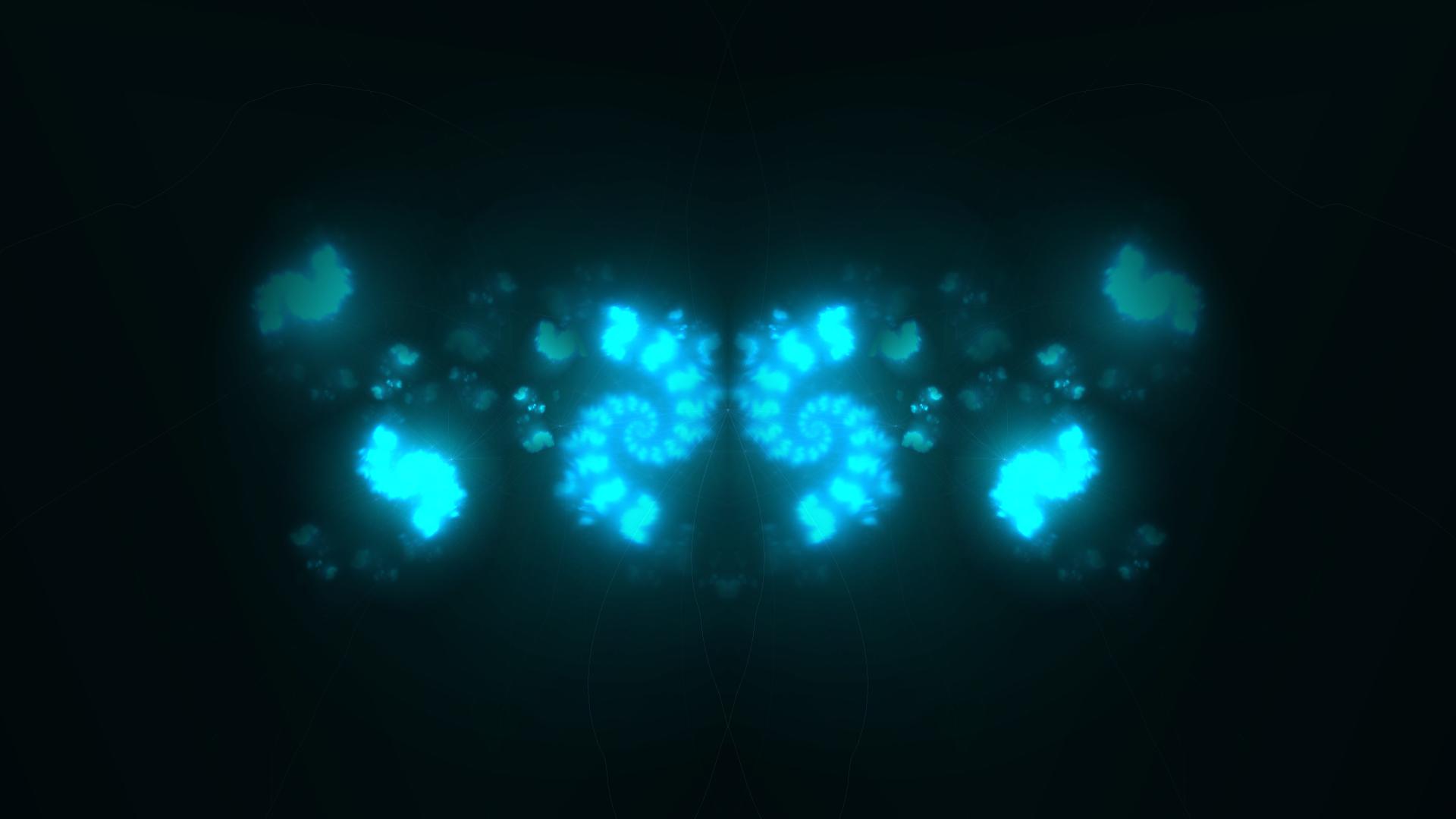 Abstract Blue Dark Lights Fractals 1080p HD Wallpaper Widescreen HD 1920x1080