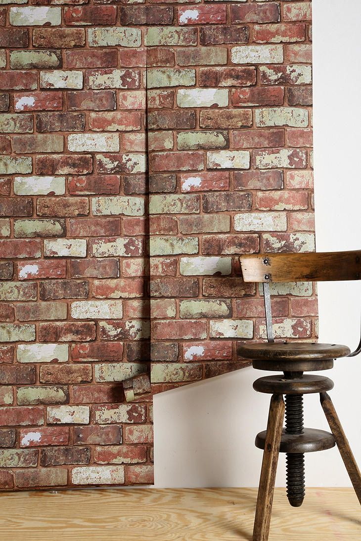 an accent wall with this wallpaper Graham Brown Red Brick Wallpaper 730x1095