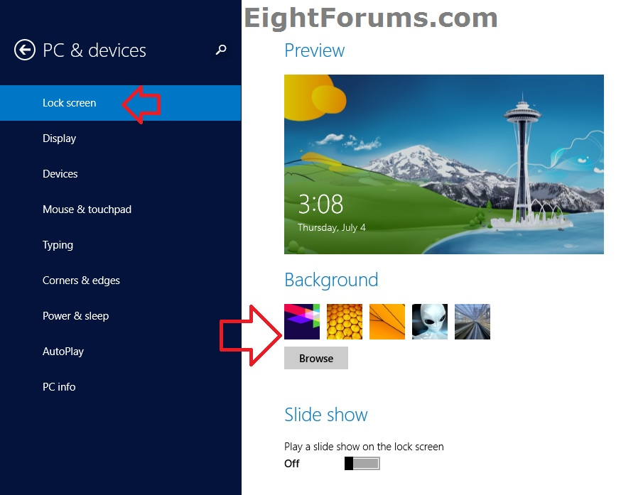 lock screen background image change windows 8 windows 81 lock screen 874x697