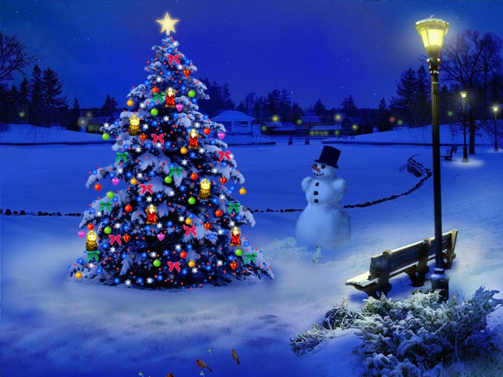 3d Christmas Wallpaper 1024x768