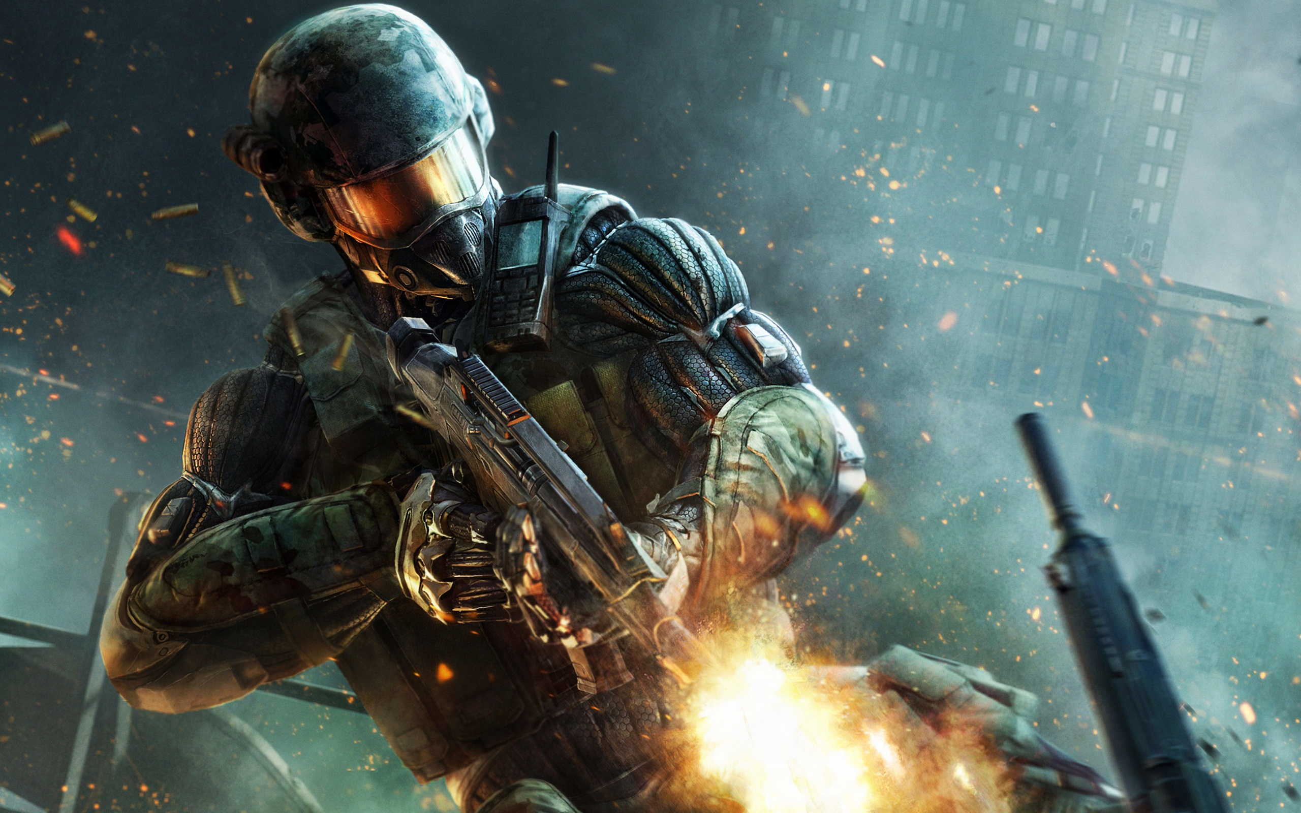 Crysis 2 Weapons Suit Car Wallpapers Images Crazy Gallery 2560x1600