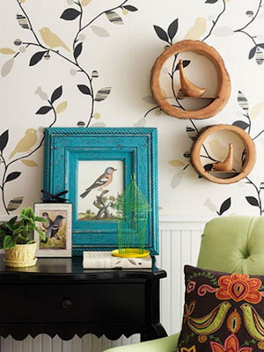 theme going on here cheerful wall paper pick modern and vintage to 384x512