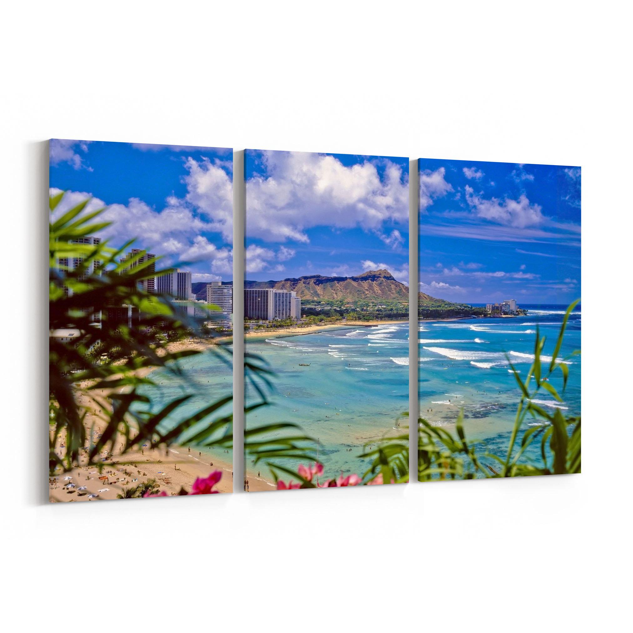 Waikiki Beach Skyline Wall Art Canvas Waikiki Beach Canvas Print 2024x2024
