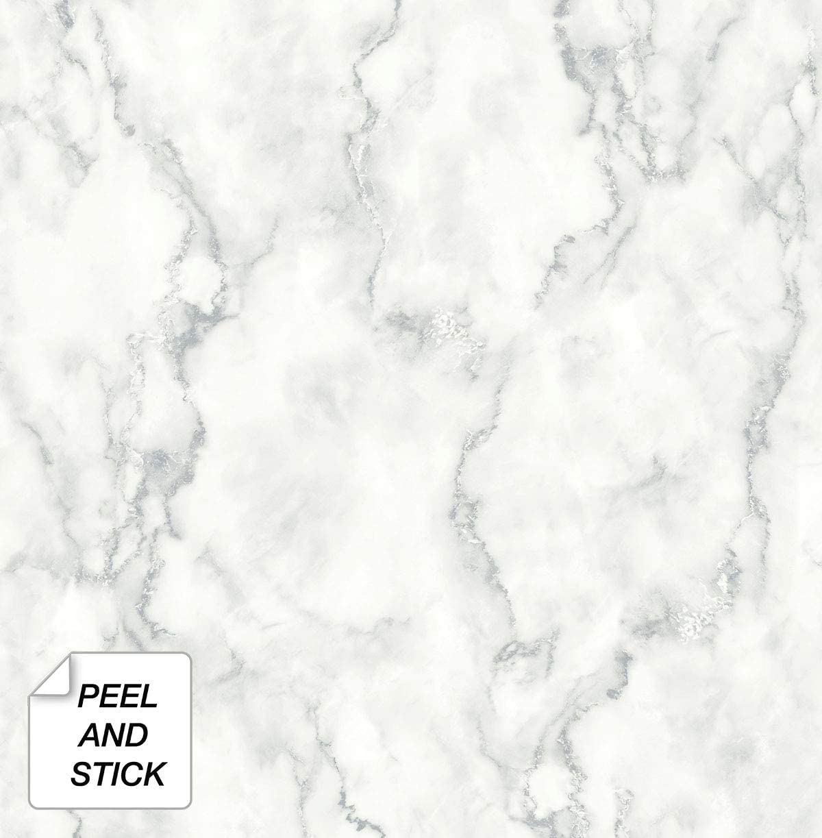NextWall Faux Marble Texture Peel and Stick Wallpaper White 1200x1223