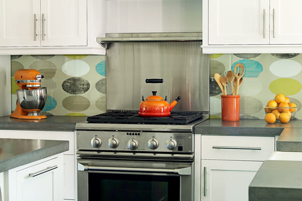 wallpapered backsplash 11 ways to give your home a personal stamp