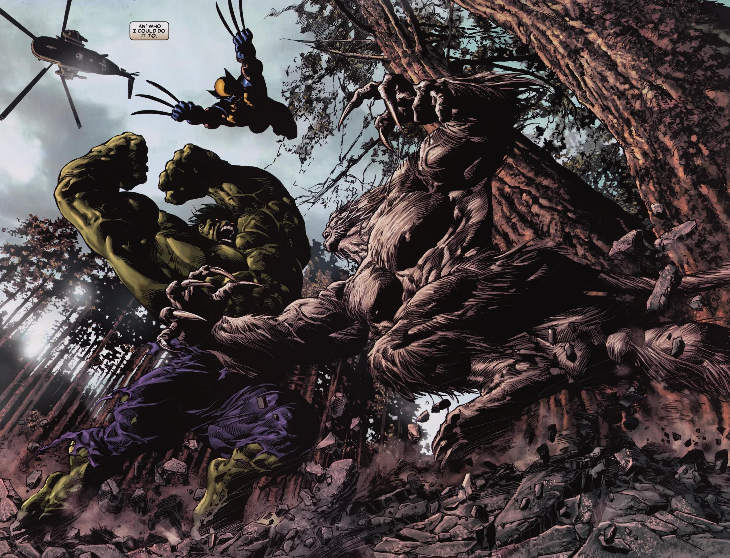 Comics marvel wolverine hulk wolverine hulk super heroes battle 2560x1956