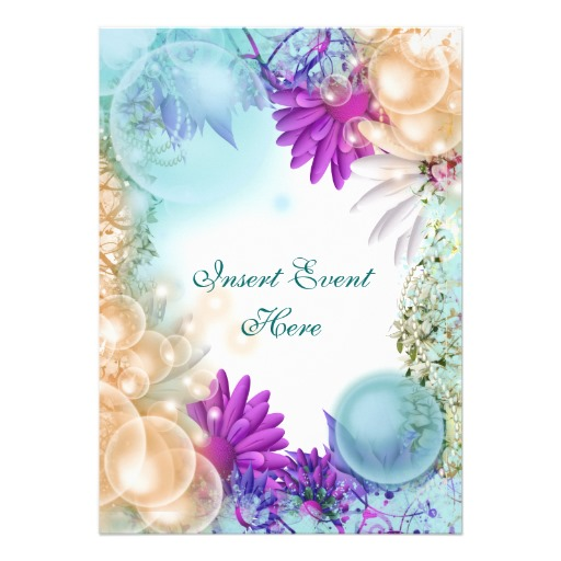 Beach theme tropical elegant party 5x7 paper invitation card Zazzle 512x512