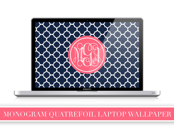 Unavailable Listing On Etsy: Preppy Monogram Wallpaper