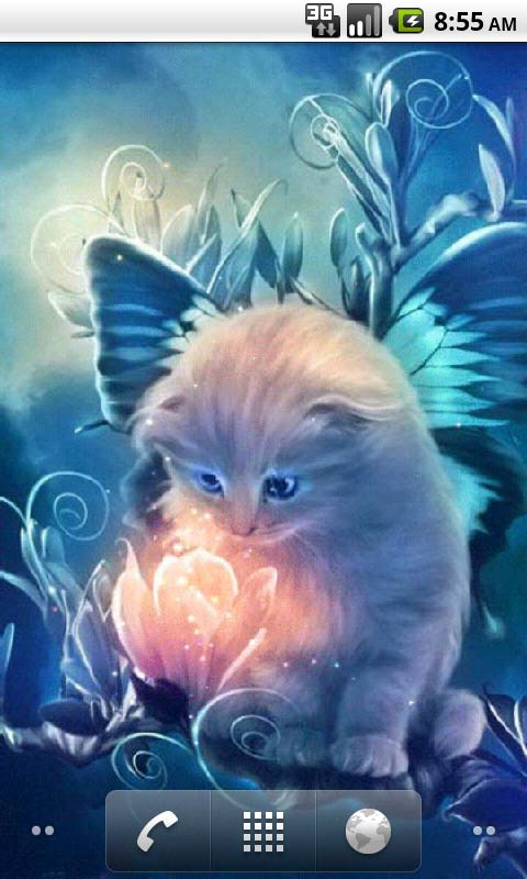 Download Kitty and Magic Live Wallpapers for your Android phone 480x800