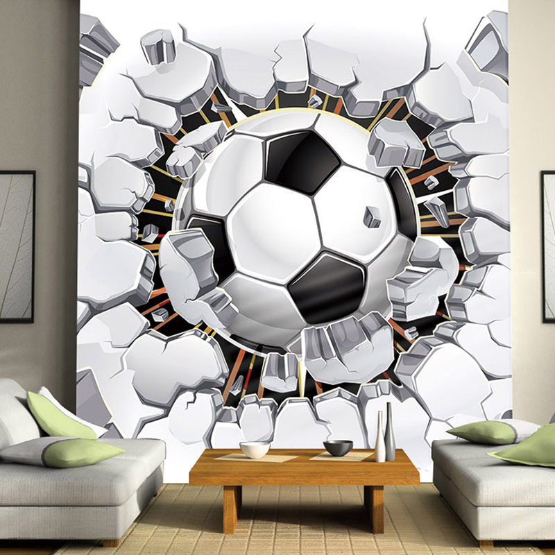 3D Soccer Wallpaper Sport Background Mural Living Room Sofa 800x800