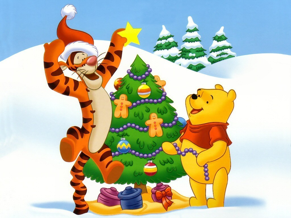 Winnie the Pooh Winnie the Pooh Christmas Wallpaper