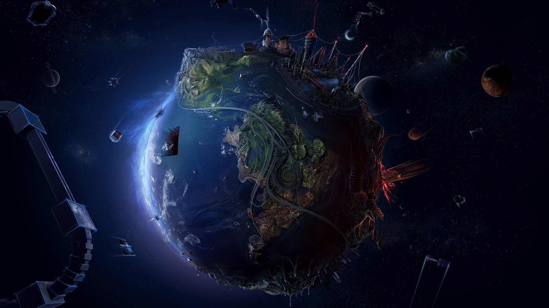 1920x1080px cool space background wallpapers - wallpapersafari