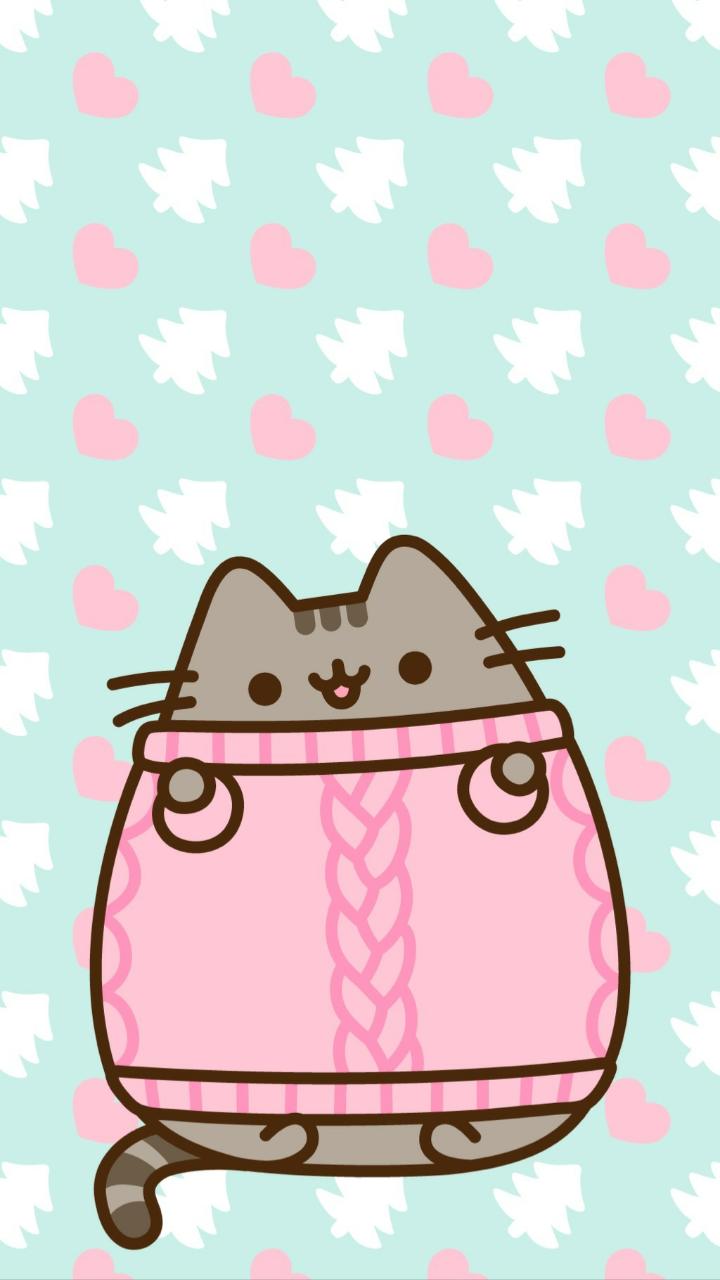 Pusheen cat winter shared by alexandralupan on We Heart It 720x1280