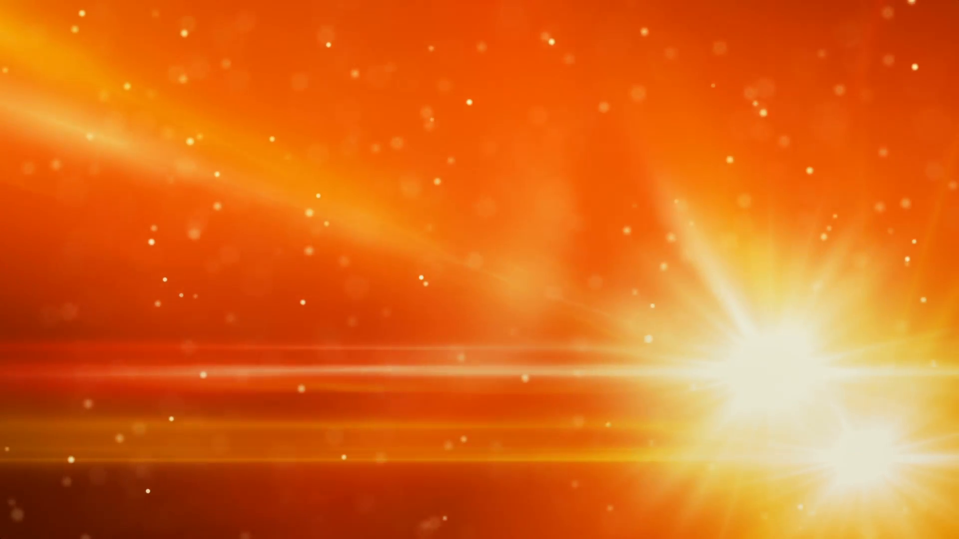 orange light flares and particles loop background Motion 1920x1080