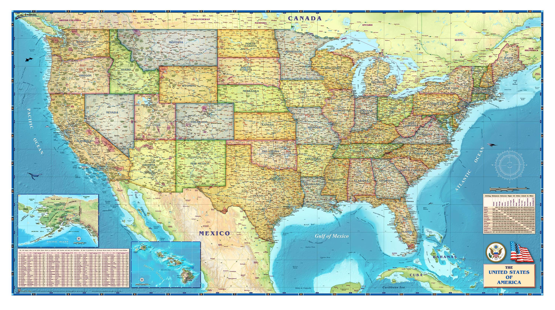 Us Map Wallpaper WallpaperSafari - Full map of us
