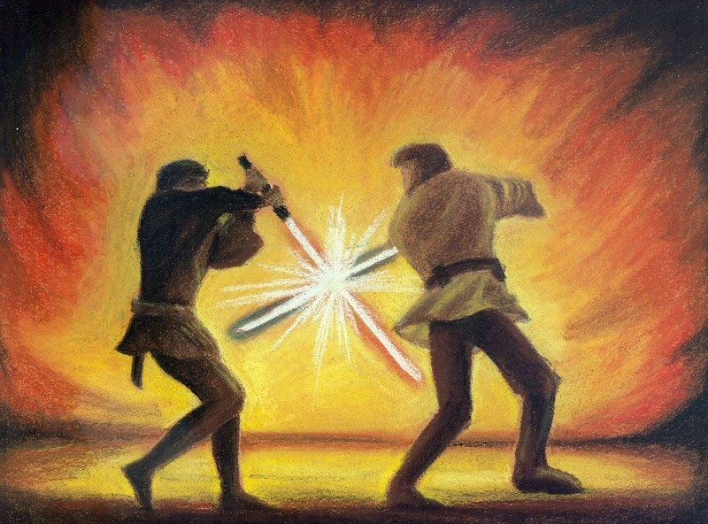 Obi wan vs Anakin by beewee 800x592