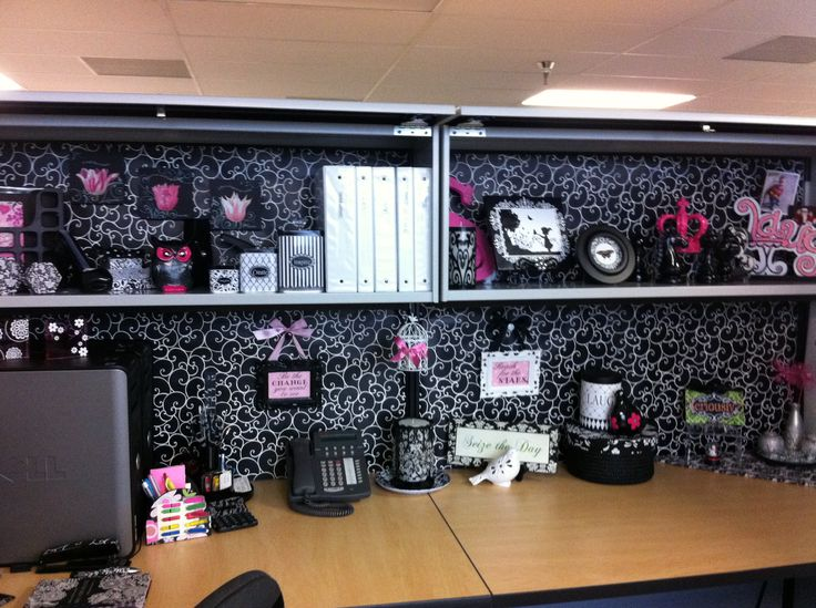 Cubicle decorating Cubicle Decor Pinterest Offices Cubicles 736x549