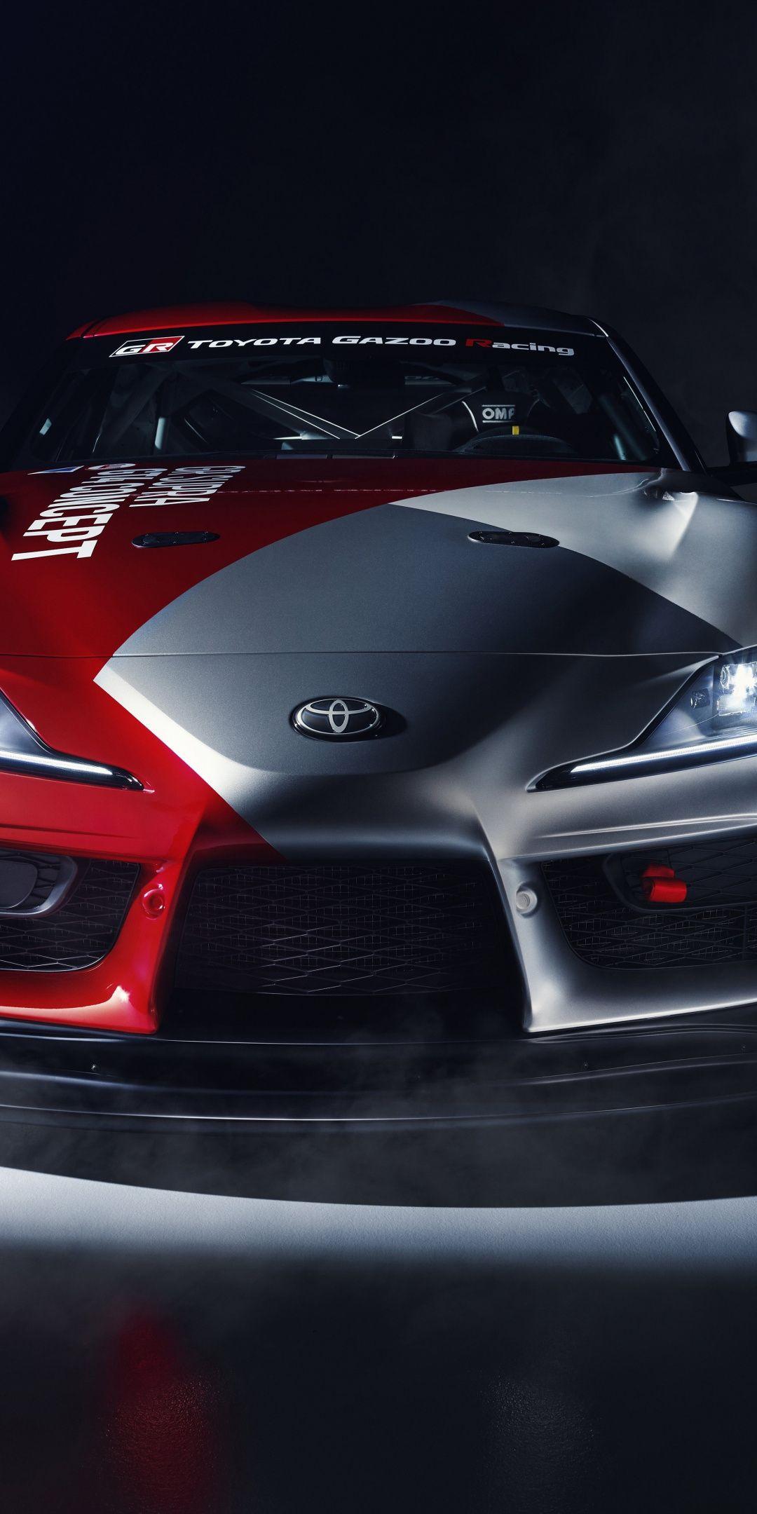 Toyota GR Supra GT4 concept car 2019 1080x2160 wallpaper 1080x2160