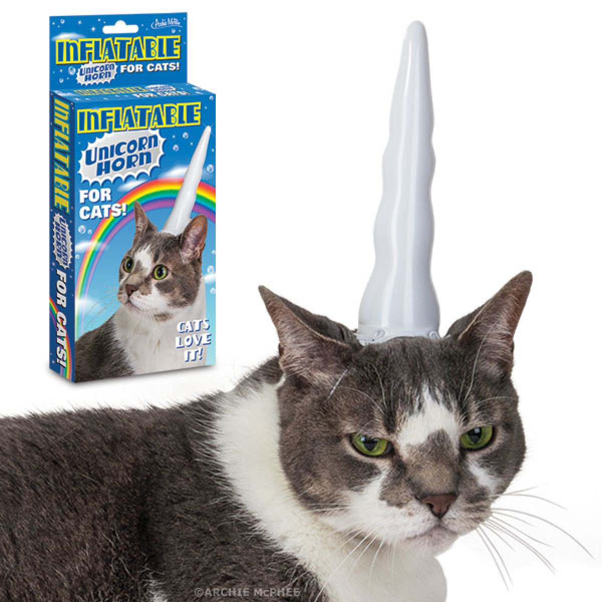 Inflatable Unicorn Horn for Cats   Archie McPhee Co 1200x1200