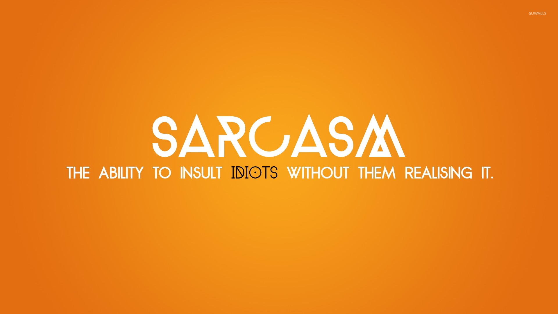 Sarcasm wallpaper   Typography wallpapers   23540 1366x768