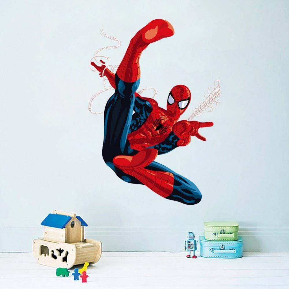 com Buy Cartoon Spiderman Wall Stickers for Kids Rooms children room 1000x1000