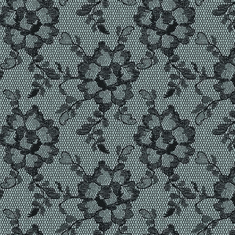 Lace Textured Smokey Black Removable Wallpaper by Tempaper 800x800