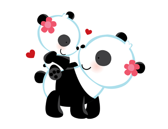 panda bear wallpaper border   wwwhigh definition wallpapercom 570x440
