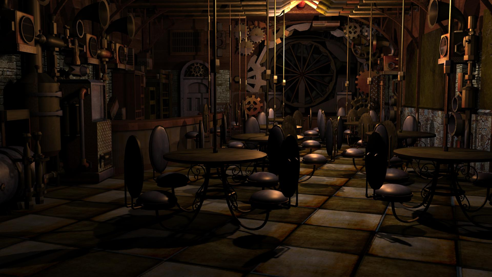 Steampunk Bar Raw by roovette04 1920x1080