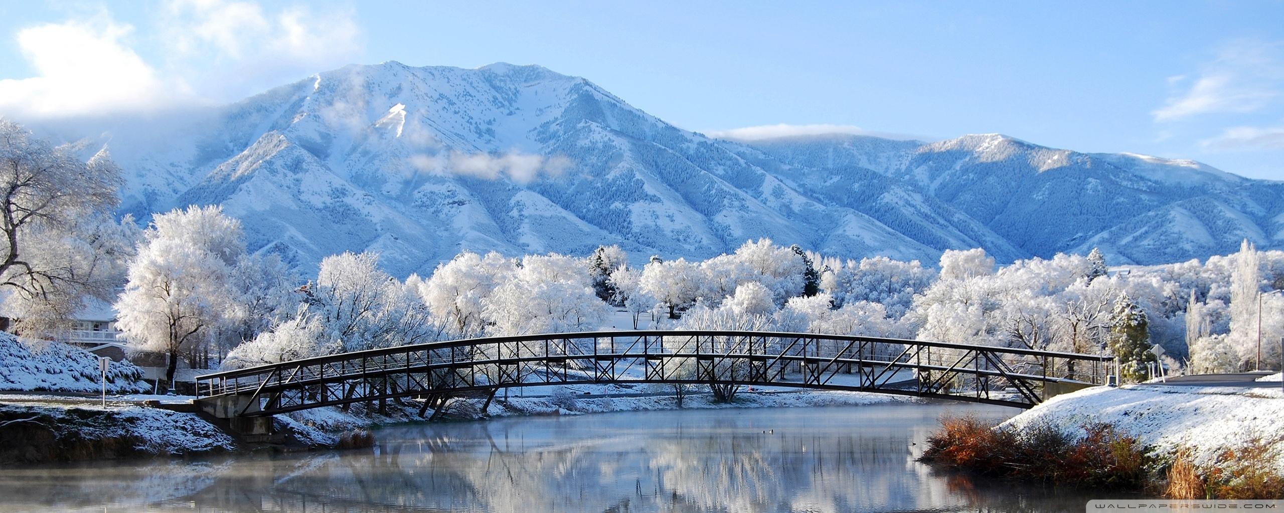 Beautiful Winter Scene 4K HD Desktop Wallpaper for 4K Ultra HD 2560x1024