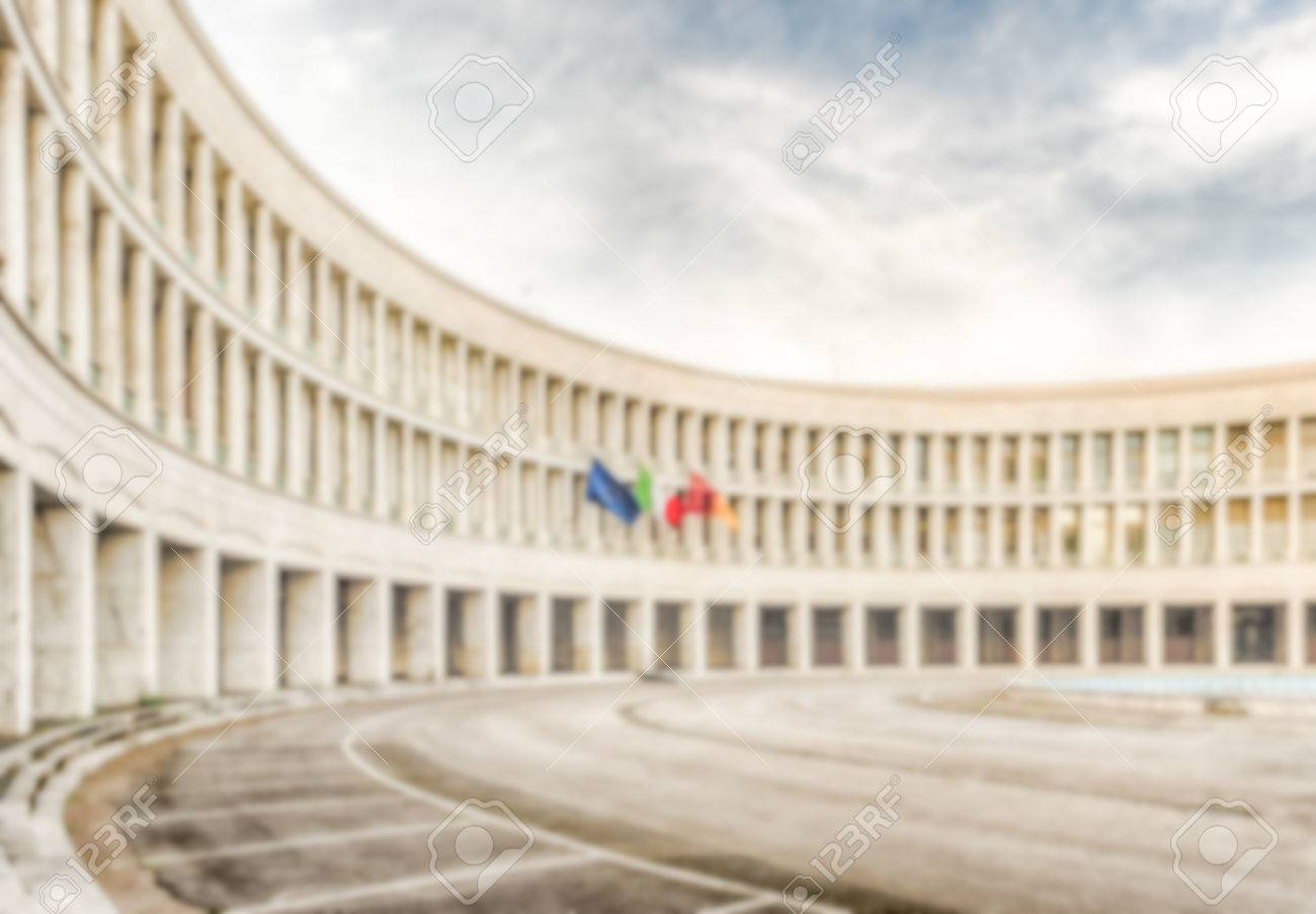 Defocused Background Of Neoclassical Architecture In EUR District 1300x903